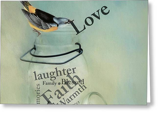 Greeting Card featuring the photograph Love by Robin-Lee Vieira