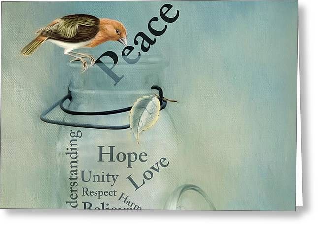 Greeting Card featuring the photograph Peace by Robin-Lee Vieira