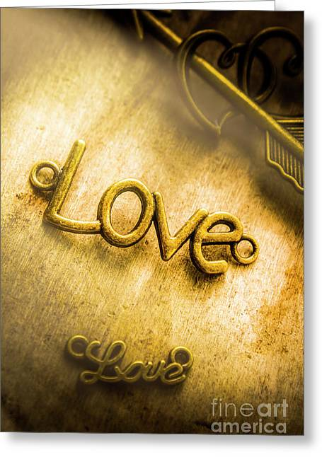 Words And Letters Of Love Greeting Card