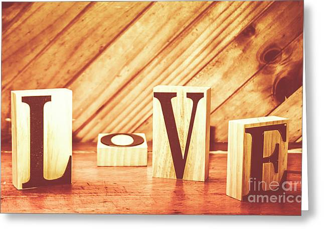 Words Of Love Greeting Card by Jorgo Photography - Wall Art Gallery