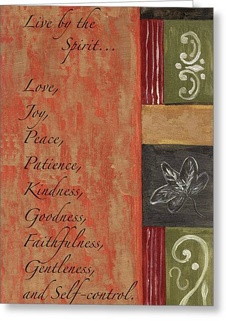Words To Live By, Fruit Of The Spirit Greeting Card