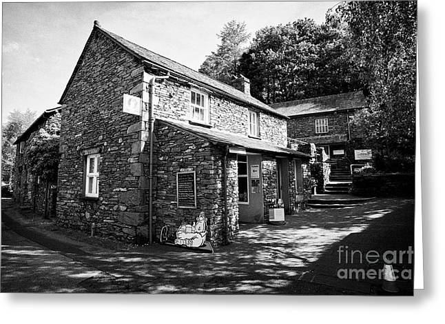 Wordsworth Museum And Traditional Lake Stone Slate Built Cottages In The Hamlet Of Town End Near Gra Greeting Card