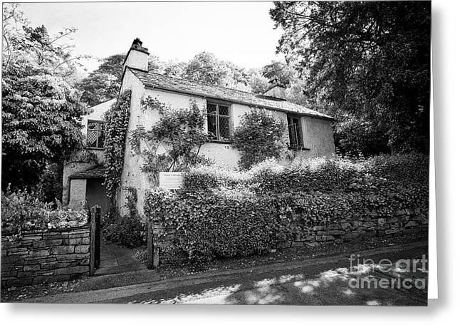 Wordsworths Dove Cottage In The Hamlet Of Town End Near Grasmere Lake District Cumbria England Uk Greeting Card