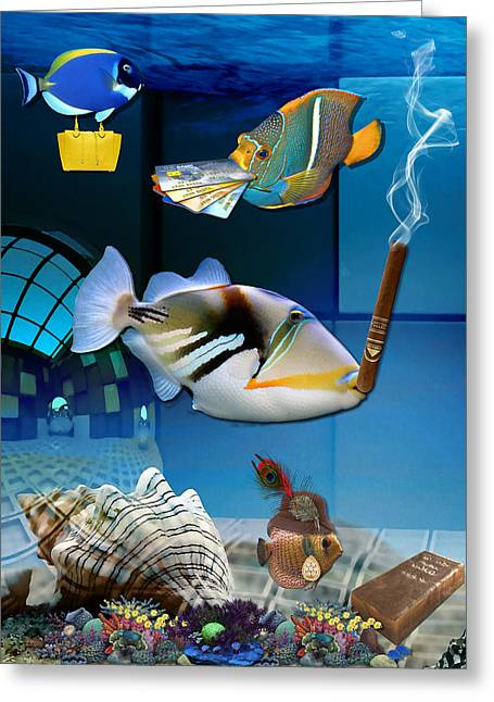 Order, Order, Order, Going Shopping Saltwater Triggerfish Greeting Card