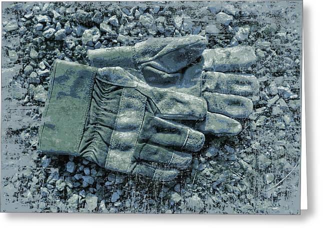 Work Gloves Homage Greeting Card