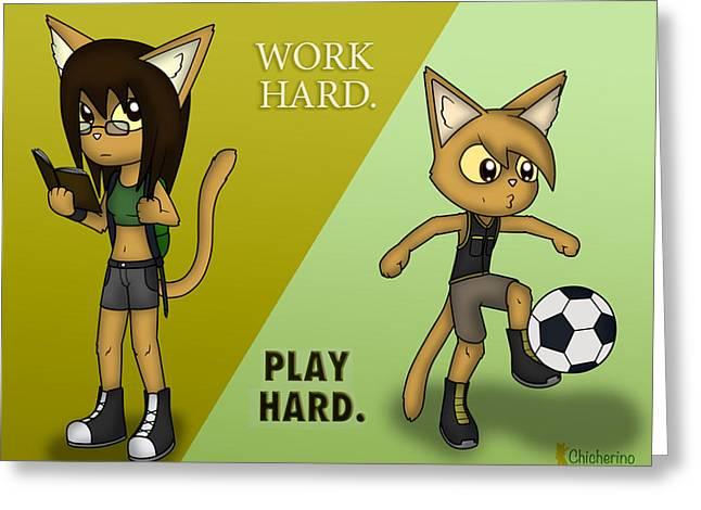 Work Hard. Play Hard. Greeting Card