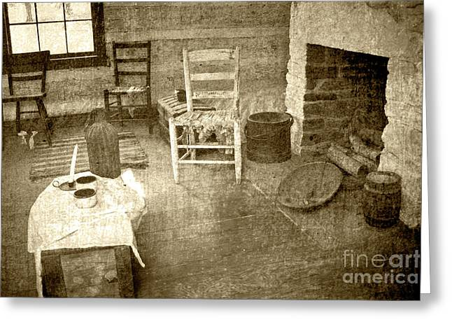 Greeting Card featuring the photograph Worker Quarters 2 by Pete Hellmann