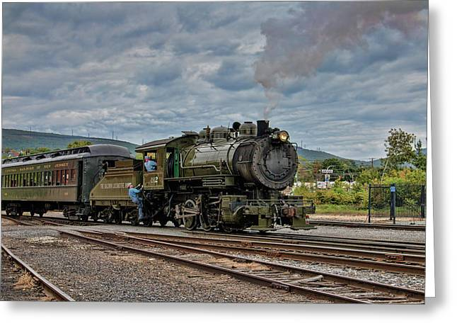 Workhorse At Steamtown Greeting Card