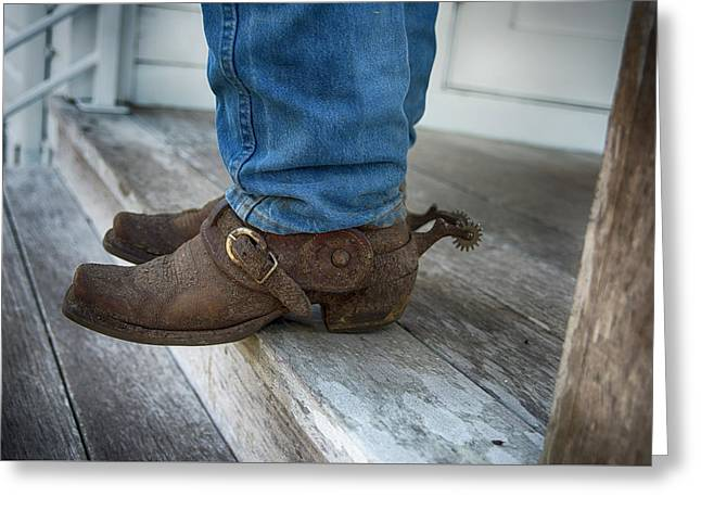Working Cowboy Boots Greeting Card