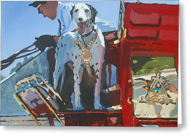 Working Dog Greeting Card by Robert Bissett