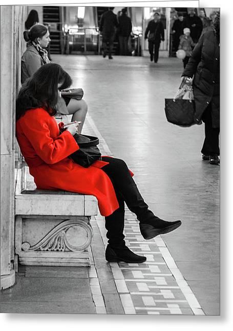 Working Girl Greeting Card