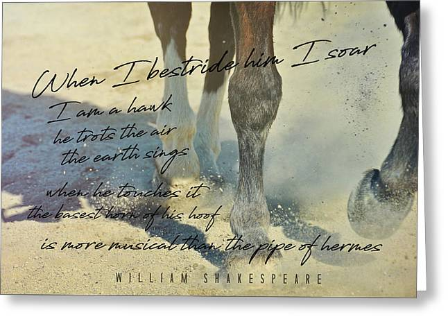 Greeting Card featuring the photograph Working Tempo Quote by Dressage Design
