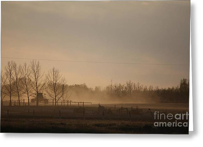 Greeting Card featuring the photograph Working The Field by Wilko Van de Kamp