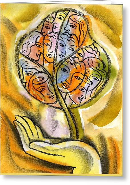 Working Together Greeting Card by Leon Zernitsky