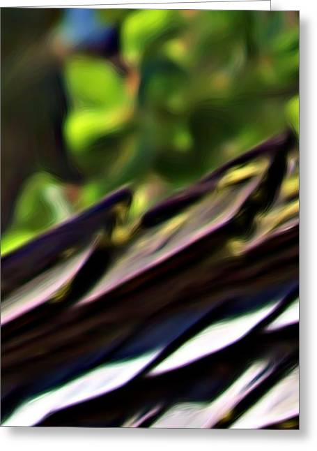 Working Toward Abstraction Greeting Card by Shawn Wallwork