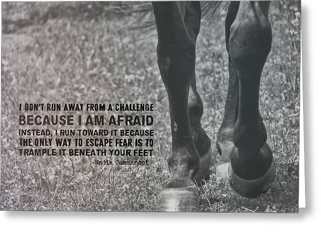 Working Trot Quote Greeting Card by JAMART Photography