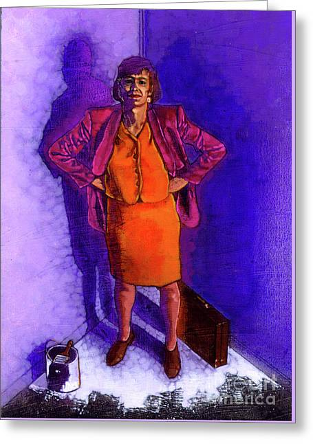 Working Women Standing Greeting Card by Travis