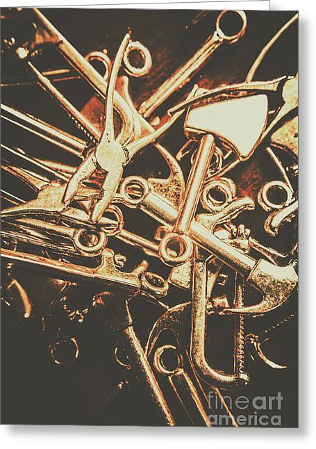 Workshop Abstract Greeting Card by Jorgo Photography - Wall Art Gallery