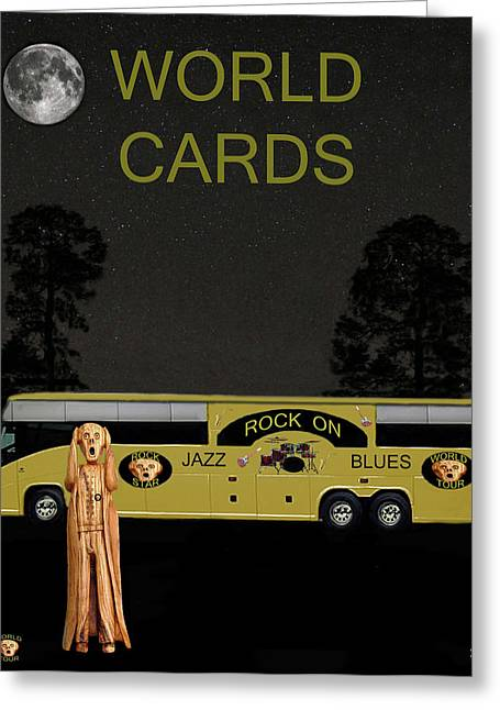 World Cards Greeting Card by Eric Kempson