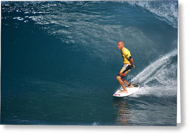 Kelly Slater Greeting Cards - World Champion x11 Greeting Card by Kevin Smith