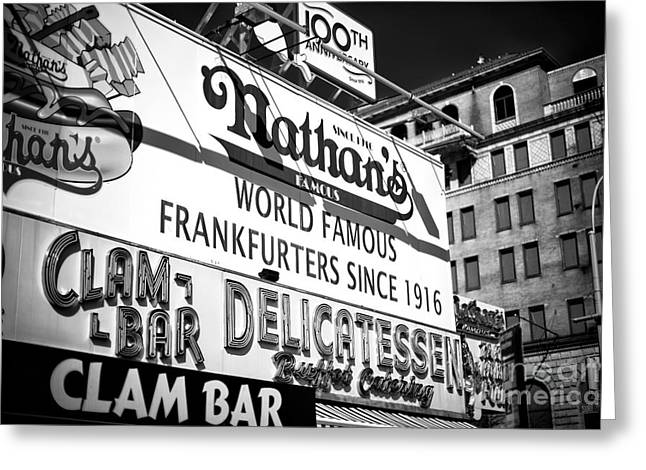 World Famous Nathan's Greeting Card by John Rizzuto
