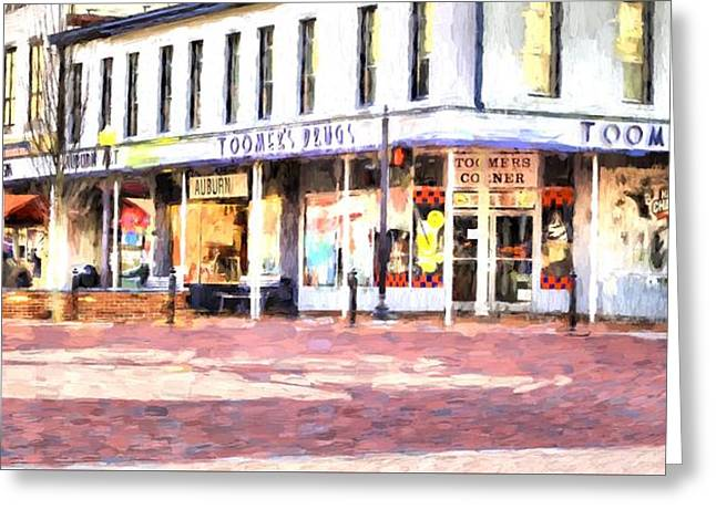 World Famous Toomers Corner Greeting Card by JC Findley