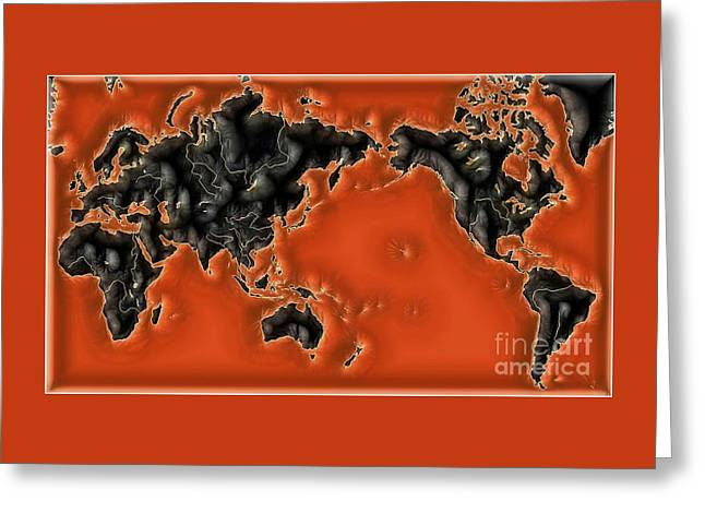 World Impressions - Global Warming Greeting Card by Kaye Menner