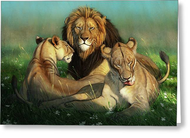 World Lion Day Greeting Card