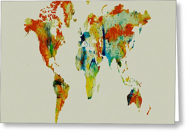 World Map 05 Greeting Card