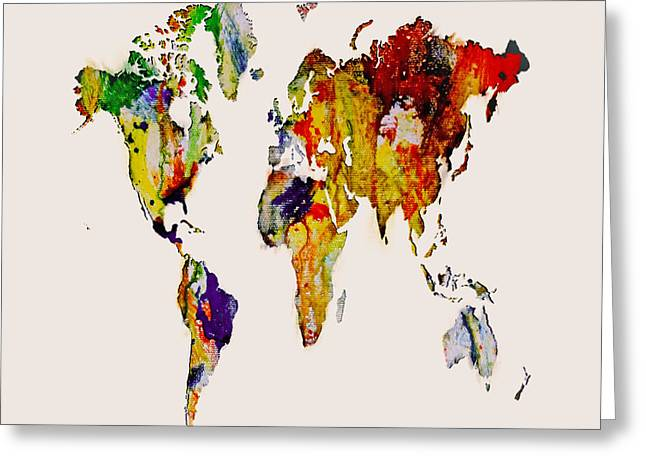 World Map 14 Greeting Card