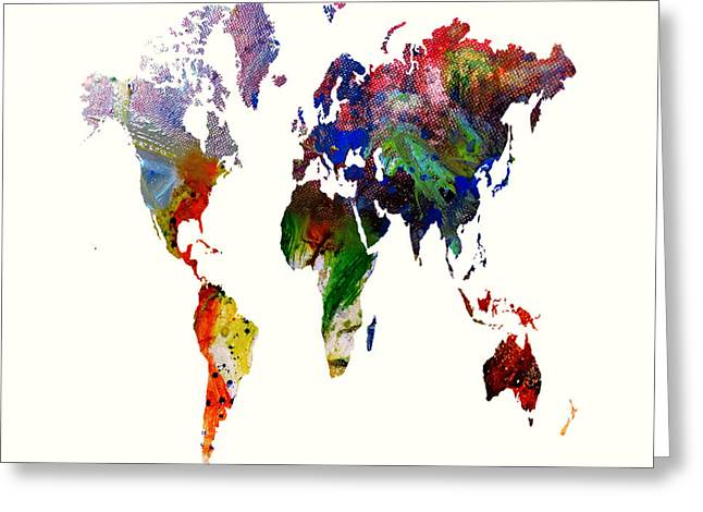 World Map 16 Greeting Card