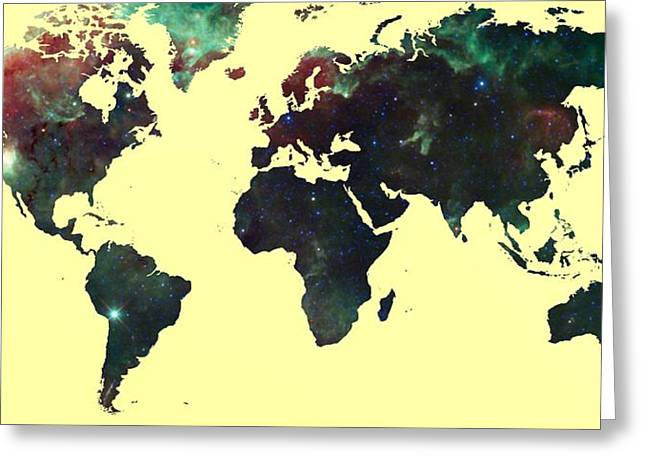 World Map 2 Greeting Card