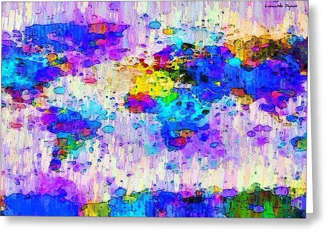 World Map Abstract 2 - Pa Greeting Card