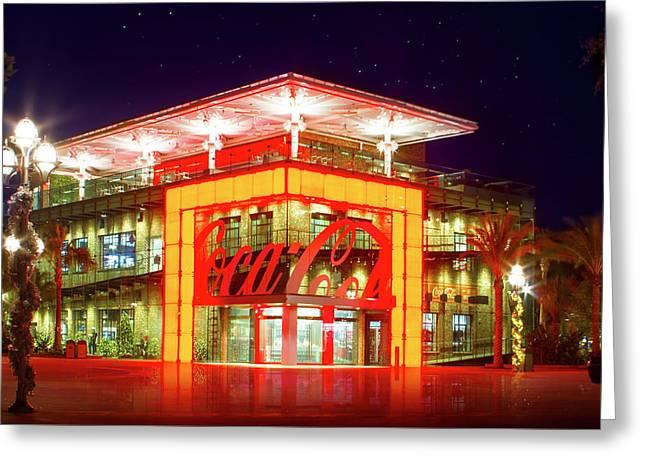 World Of Coca Cola At Disney Springs Greeting Card