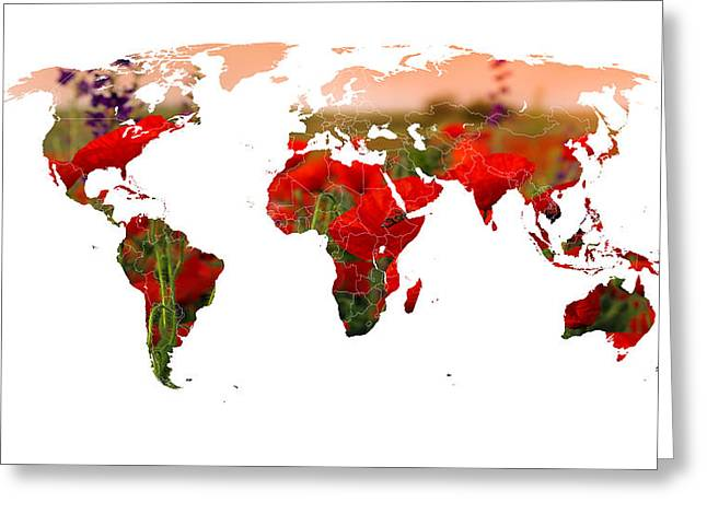 World Of Poppies Greeting Card