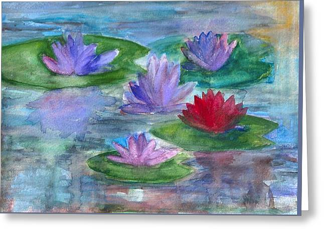 World Of Water Lilies Greeting Card by Claudia Smaletz