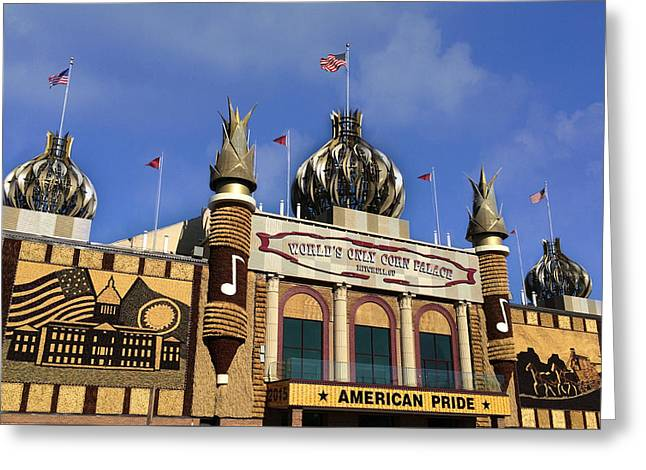 World's Only Corn Palace Greeting Card by Art Spectrum