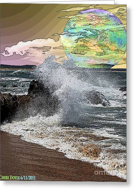 World Outside Our Own Greeting Card by Cheri Doyle