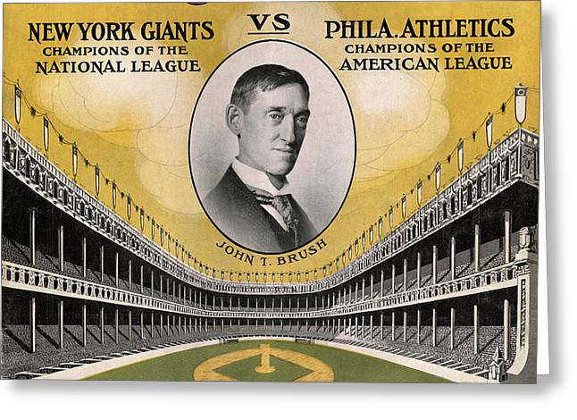 World Series 1911 Greeting Card by Andrew Fare
