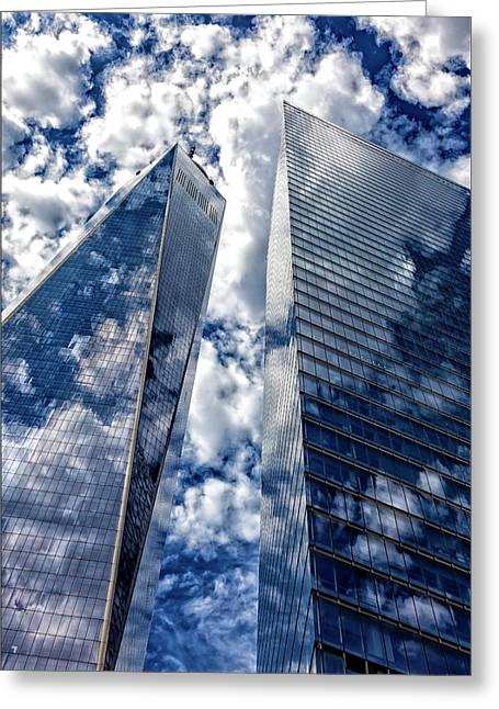 World Trade Center And Clouds Greeting Card