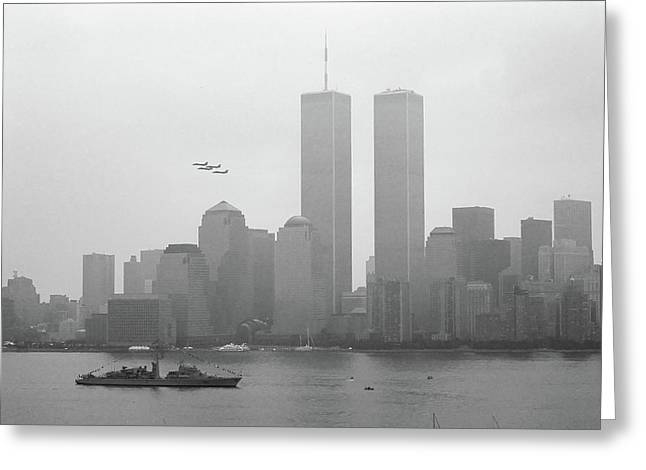 World Trade Center And Opsail July 4th 2000 Photo 13 Greeting Card