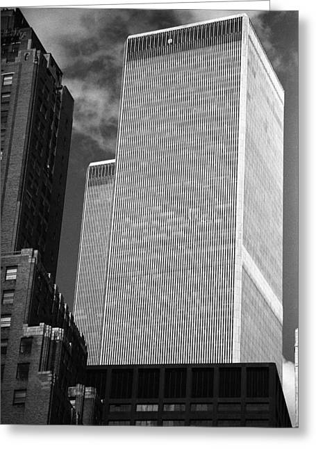 World Trade Center Greeting Card by Eric Foltz