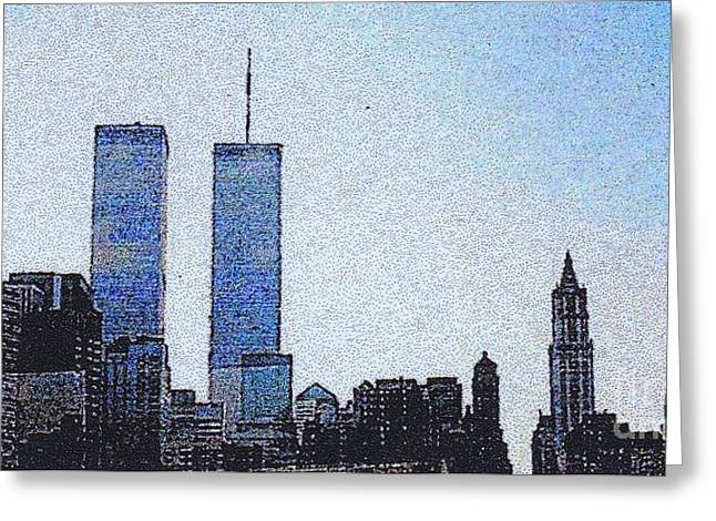 World Trade Center Once Upon A Time... Greeting Card