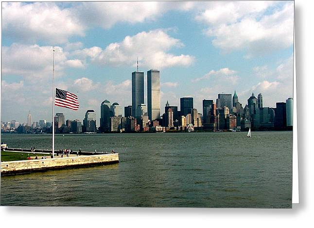 World Trade Center Remembered Greeting Card by Tim Mattox