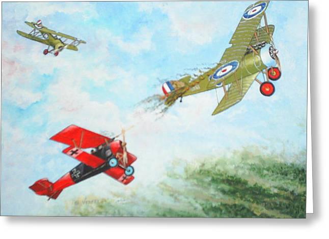 World War I Greeting Card by Dennis Vebert