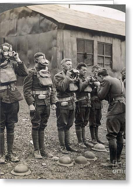 World War I: Gas Masks Greeting Card by Granger