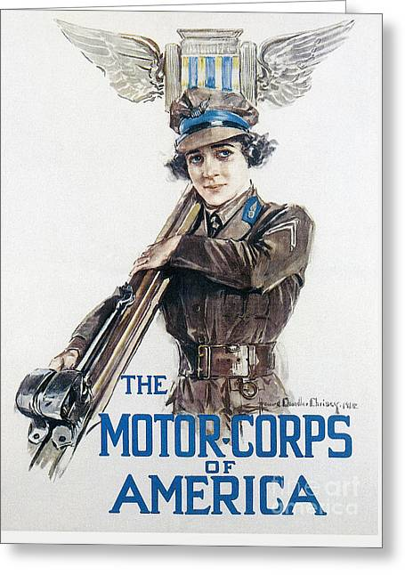 Motor Corps, 1918 Greeting Card by Granger