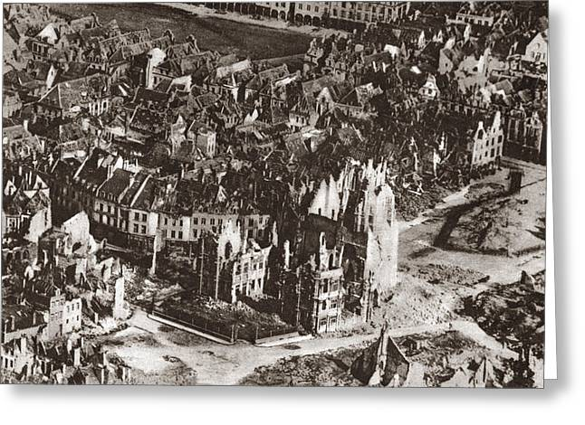 World War I: View Of Arras Greeting Card