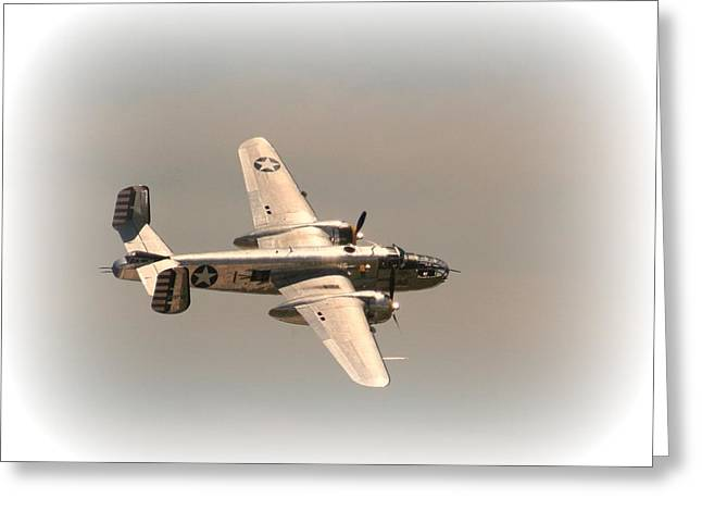 World War II B25 Mitchell Bomber Greeting Card by David Dunham