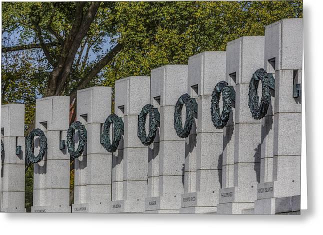 World War II Memorial Wreaths Greeting Card